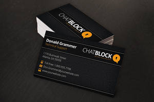 Leather Business Cards by xstortionist