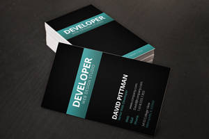 Carbon Fiber Business Card Template by xstortionist