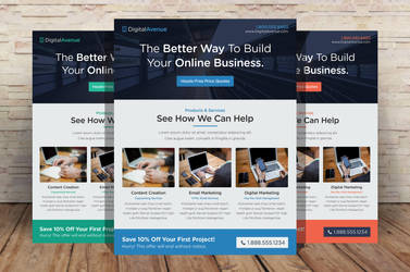 Marketing Flyer Template by xstortionist