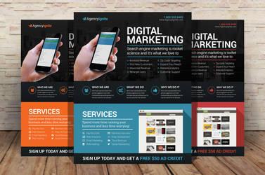 Digital Marketing Flyer PSD by xstortionist
