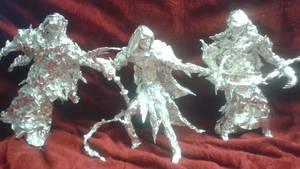 Eltariel vs Nazgul - Aluminum Foil Sculpture by TheFoilGuy