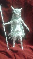 San - Aluminum Foil Sculpture by TheFoilGuy