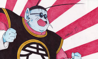 King Kai Ballpoint Pen Drawing by demoose21