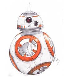 BB-8 Ballpoint Pen Drawing by demoose21
