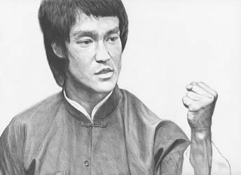 Bruce Lee Ballpoint Pen Drawing by demoose21