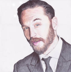 Tom Hardy Ballpoint Pen Drawing by demoose21
