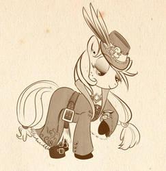 Steampony 4- Applejack by bunnimation