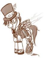 Streneck OC-Steam pony by bunnimation