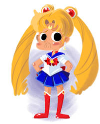 Sailor moon- fun with character design by bunnimation