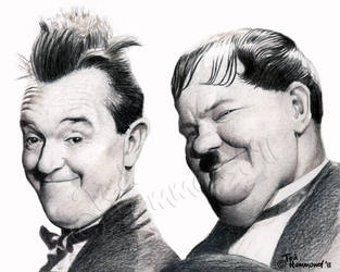 Laurel and Hardy by ted1air