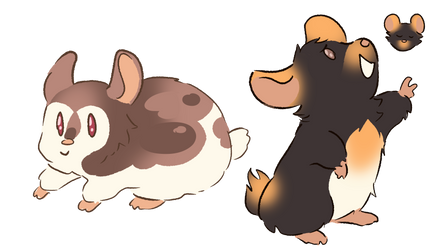 some hamsters designs by Paryficama