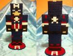 Captain America  Age Of Ultron Minecraft Figure by miknara