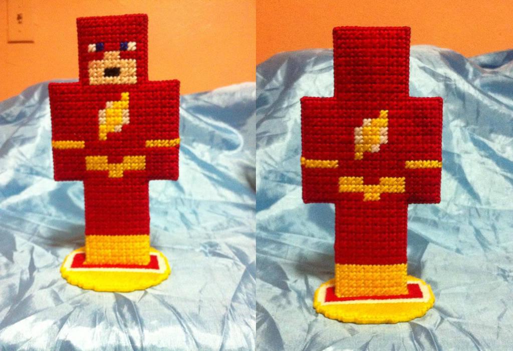 The Flash Plastic Canvas Minecraft Figure By Miknara On Deviantart