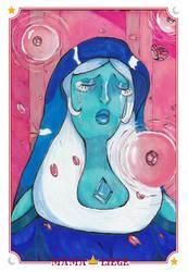 [FANART] Blue Diamond -- Pink's Human Zoo by MamaLiege
