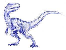 Velociraptor by little-ampharos