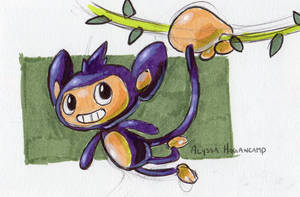 #190 Aipom by little-ampharos