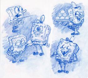 Spongebob Studies by little-ampharos