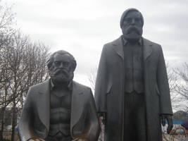 Marx and Engels by Kooskia