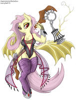Nightshade Flutterbat (coloring) by Bleff172