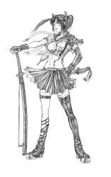 School girl with katana by shonensan