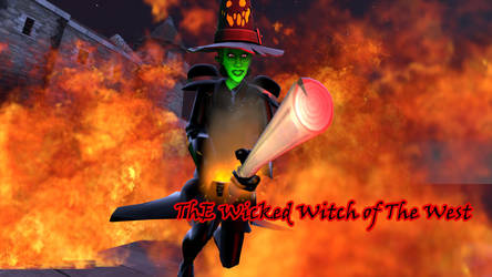 [SFM] FanArt - The Wicked Witch of The West by LonelySitlentAngel