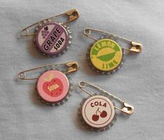 Handmade UP Buttons for Sale by mizutamari