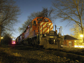 CP Rail at Night by therudycometh