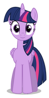 Twilight Sparkle - frontview by azur-wing by Azur-Wing