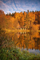 Autumn reflection by mjagiellicz