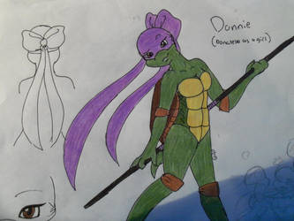 Donnie: Donatello as a girl by pheonixfoxblood24