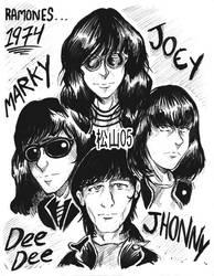 The Ramones by D-MATSUYAMA