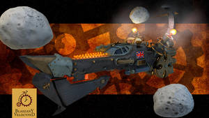 Defender of the Empire - steampunk spaceship by Kurczak