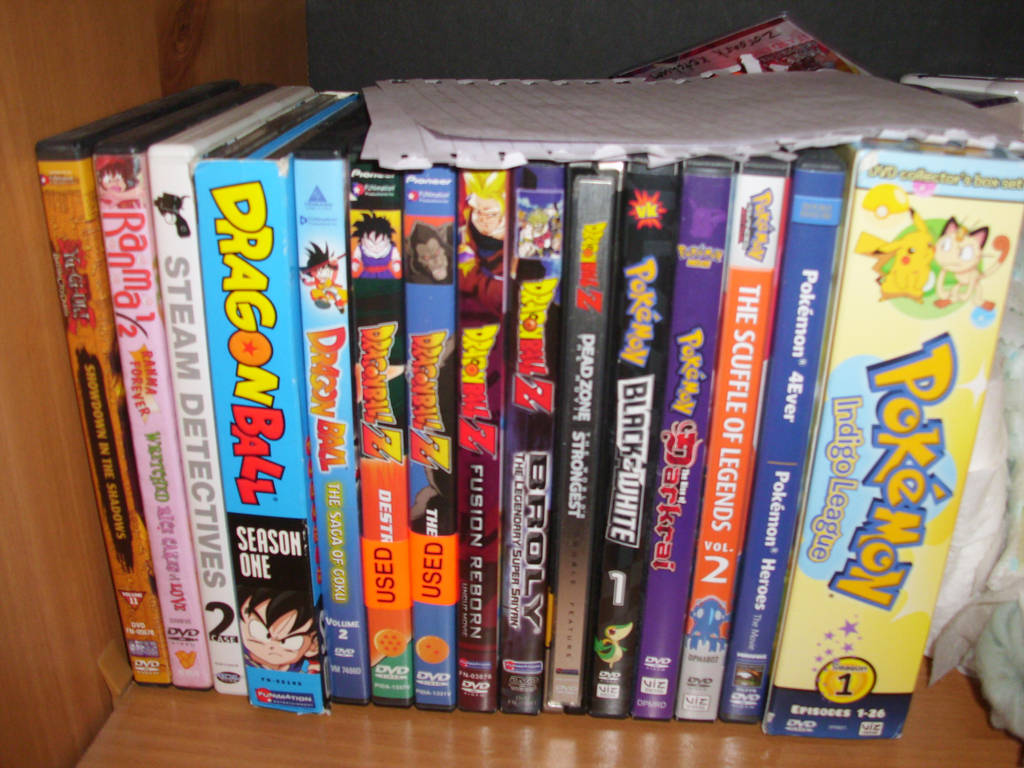 My anime dvds by ci dash1991