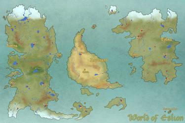 Eslion: World Map by J-E-N-0-V-A
