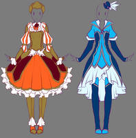 2014 August Outfits Commissions 1 by rika-dono