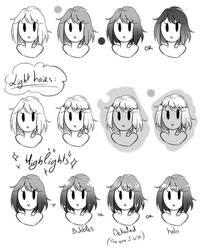Toning Manga Hair - my way by rika-dono