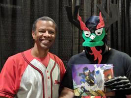 Meeting Phil LaMarr as Aku. by Kaiju-Brawler911