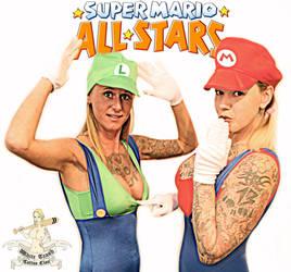 Mario and Luigi cosplay by mrswhitetrash