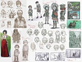 Sketch dump 2: OCs by OctoProbz