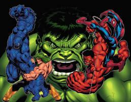 Hulk 600 cover by xXNightblade08Xx