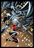 Batman and Robin by xXNightblade08Xx