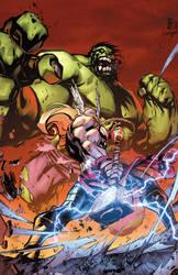 Hulk vs Thor! by xXNightblade08Xx