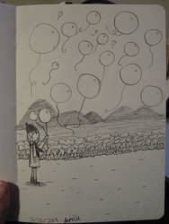 Balloon snow by SuperMapleGirl