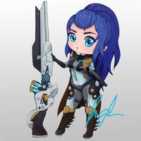 Pulsefire Caitlyn Fan Art by MiniLarva