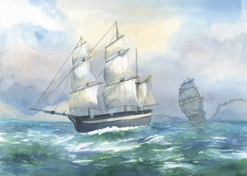 HMS Erebus and Terror by KristinaGehrmann