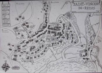 Plan de Saint-Vincent-de-Reins by Cartoria