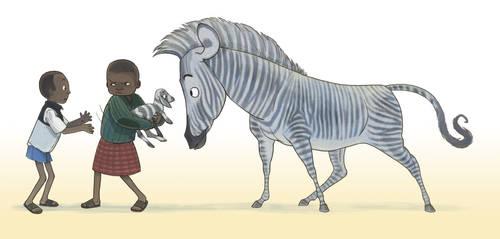 Boys and Zebra by larkinheather