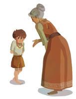 Anna and Atrus by larkinheather