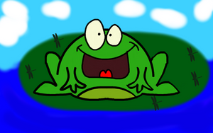 Frog on a LilyPad by DJFLuFFy-vs-joe