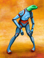 SOC reptile suit fin by tiredsloth